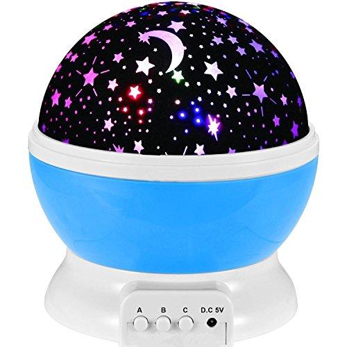 Elikeable LT Sternenhimmel Projektor,New Generation Sun und Stern-Beleuchtung Lampe 4 LED Perlen 360 Grad Romantische Lamp entspannende Stimmung Lichtprojektor-Baby-Kinderzimmer-Schlafzimmer Kinder Zimmer und Weihnachts-Geschenk