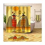 Aeici Zwei Frauen Badezimmerteppich 40X60 Polyester Bad Vorhang 3D Bunt Duschvorhang 150X180 cm