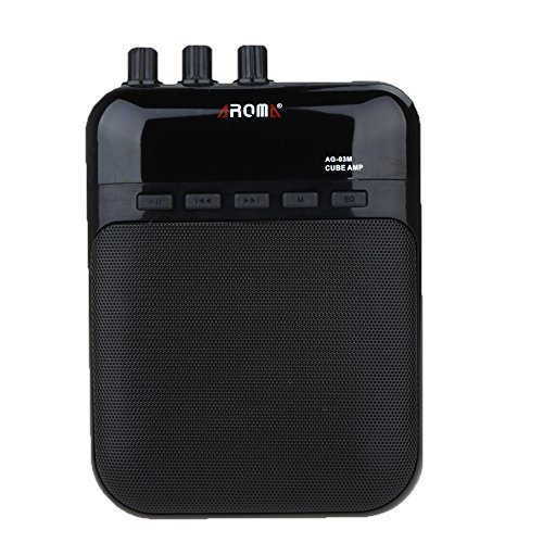 ammoon Guitar Amplifier AG-03M 5W Speaker Recorder TF Card Slot Compact and Portable Multifunctional