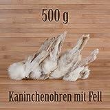 500g ca. 40 Stück Kaninchenohren mit Fell fettarm BARF wie Schweineohren Rinderohren Kausnack Kauartikel