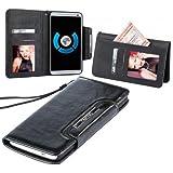 Original Numia Design Luxus Bookstyle Handy Tasche für Sony Xperia XA in Schwarz Flipstyle Case Cover Etui