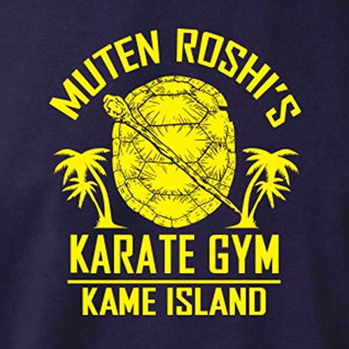 TEXLAB - DBZ: Karate Gym Kame Island - Langarm T-Shirt Dunkelblau