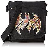 ABYstyle ABYBAG101 Batman Logo bunt Umhängetasche, 25 Liter, Mehrfarbig