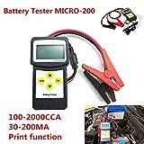 12V auto analizzatore di batteria tester di carico 30–200Ah auto veicolo batteria AGM CCA gel micro-200con USB per stampa