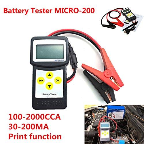 12V auto analizzatore di batteria tester di carico 30-200Ah auto veicolo batteria AGM CCA gel micro-200con USB per stam