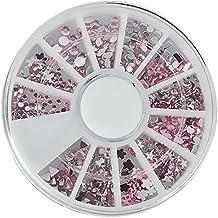 iDealhere 1Wheel Forma Múltiples Consejos de Bricolaje 3D Brillo Uñas en Caja Rueda Manicura (9#)