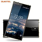 Oukitel K3 4 Kameras Handy Ohne Vertrag 6000mAh Akku 5.5 Zoll Touch-Display 1920*1080pixel Double (16MP+2MP) 64GB Interner Speicher 4GB Ram Octa Core 4G Dual Sim Smartphone Fingerabdruck-Schwarz