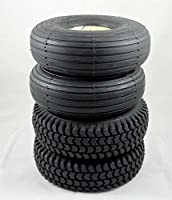 Set of Four Black Solid Innova 3.00-4 Mobility Scooter Tyres (2 Block 2 Rib Tread) (300x4) (260x85)