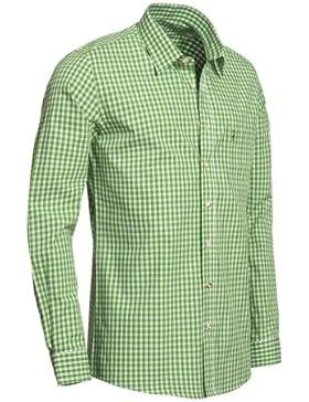 Trachtenhemd Slimline in apfelgrün von Almsach