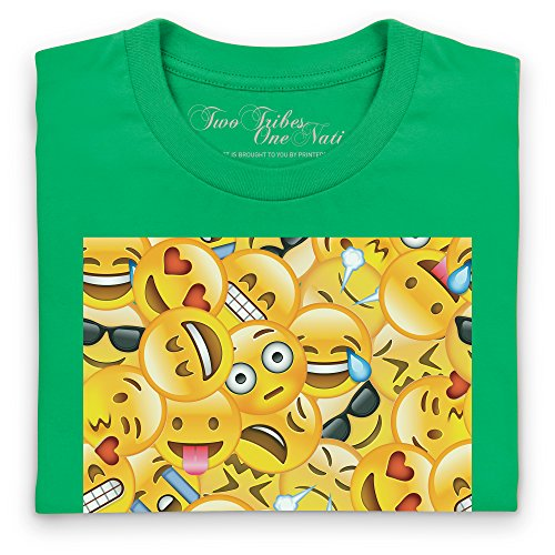 Official Two Tribes Emoji - Big Faces T-Shirt, Herren Keltisch-Grn