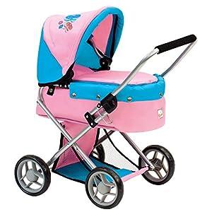 Bino Europe- Cochecito Infantil pequeño con Mariposas, Color Rosa (82917)