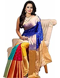 Shree Krishna Villa Saree For Women Party Wear Half Sarees Cotton Silk New Collection 2018 In Latest With Designer...