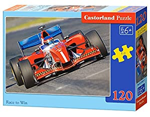 CASTORLAND Race to Win 120 pcs Puzzle - Rompecabezas (Puzzle Rompecabezas, Vehículos, Niños, Niño/niña, 6 año(s), Interior)