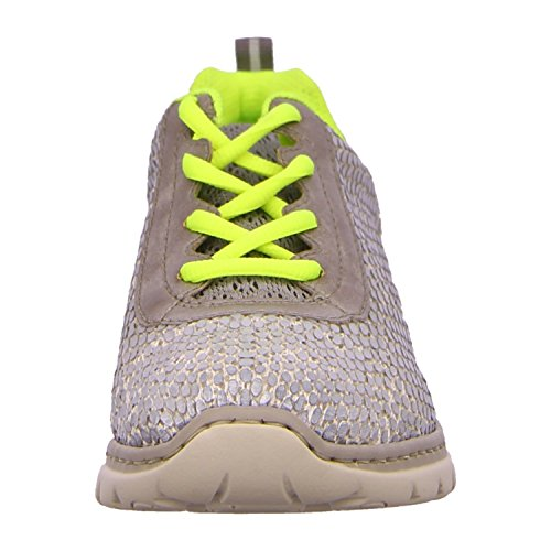 Rieker Chaussures basses chaussures D. Gris - white-grey/grey