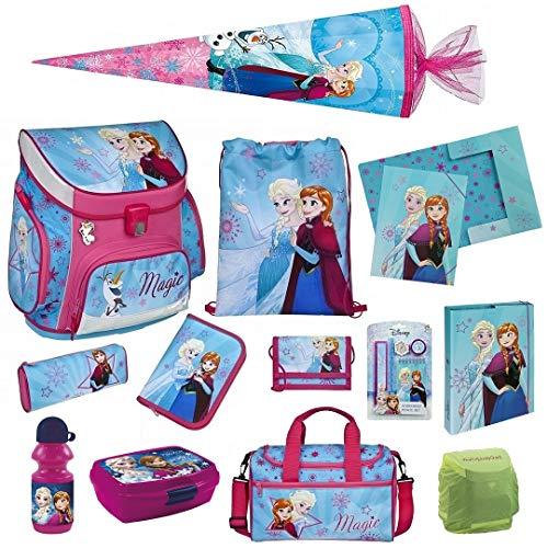 Familando Disney die Eiskönigin Schulranzen-Set 17tlg. Scooli Campus Up mit Sporttasche, Regenschutz und Schultüte 85cm