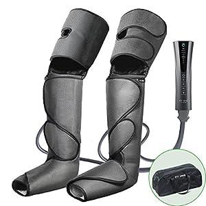 FIT KING Massagegerät für Beine und Füße, Bein-Massage-Gerät für Beine Kalb Fuß Massage bei Verspannungen und Schweren Beinen mit 3 Modi 3 Intensitätsstufen FT-012A
