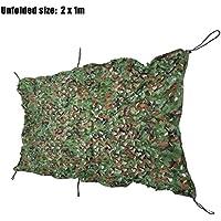 Shuzhen,1 MX 2 M Ejército Militar Caza Tienda de campaña Cubierta del Coche Camuflaje Red Neta(Color:Camuflaje DE Selva Digital)