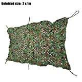 Zorbes Military Hunting Camping Camouflage Net Tent Car Cover (1 x 2 m)