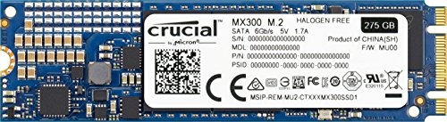Preisvergleich Produktbild Crucial CT275MX300SSD4 - MX300 - Solid state drive - encrypted - 275 GB - internal - M.2 2280 - SATA 6Gb / s - 256-bit AES - TCG Opal Encryption 2.0