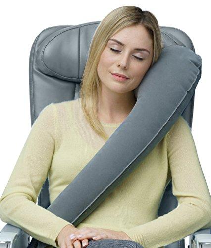 Ultimate almohada de viaje–ERGONÓMICO–apoya la cabeza, cuello y barbilla almohada en máxima comodidad avión, coche, tren y autobús almohada con para equipaje