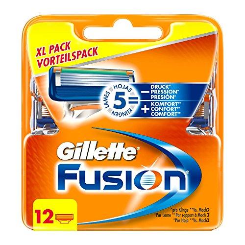 Gillette Fusion - Lames de Rasoir pour Homme - Pack de 12 (Ancienne Version)