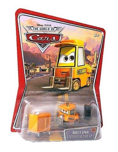 Disney Pixar - CARS - THE WORLD OF CARS - Petite voiture - Chariot élévateur jaune Dudley Spare - Nouveauté!