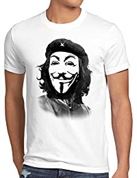 style3 Anonymous CHE T-Shirt Homme guevara hacktivisme cyberculture Guy Fawkes