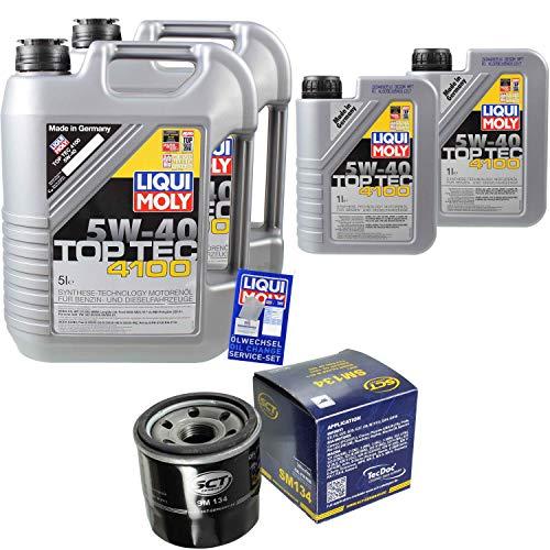 nspaket 12 Liter Liqui Moly Motoröl Top Tec 4100 5W-40 SCT Germany Ölfilter ()