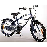 Bicicleta Niño 18 Pulgadas con Ruedas Extraíbles Satén Blu