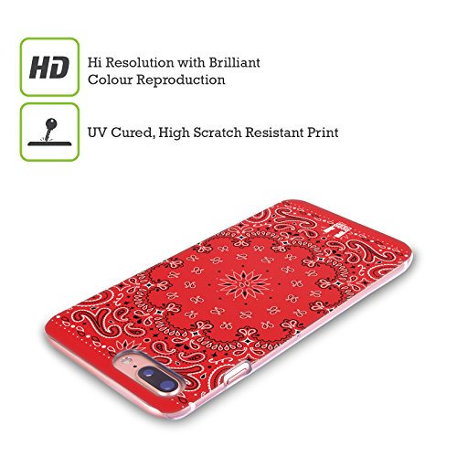 Head Case Designs Rosso Paisley Bandana Classica Cover Retro Rigida per Apple iPhone X Rosso Classico