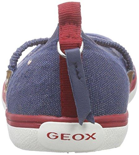 Geox Jr Kiwi Girl B, Ballerines fermées fille Bleu - Bleu denim (C4001)