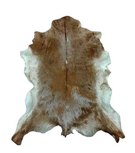 Zerimar Alfombra piel de cabra Medidas: 100x80 cms 100% Natural Ideal para la decoración