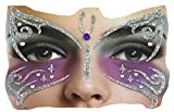 Gesichts-Tattoo Face Art Halloween Karneval Schmetterling