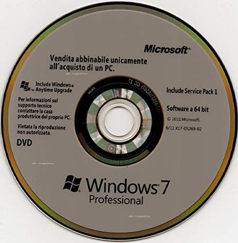 Windows 7 PRo 64 disco di rispristino Italia