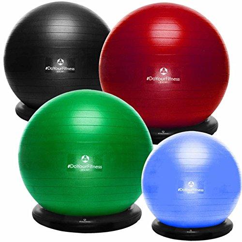 #DoYourFitness® Gymnastikball inkl. Ballschale & Handpumpe - erhältich in 55cm 65cm 75cm o. 85cm | Fitnessball Büroball Yogaball Pilatesball | berstsicher & rutschfest