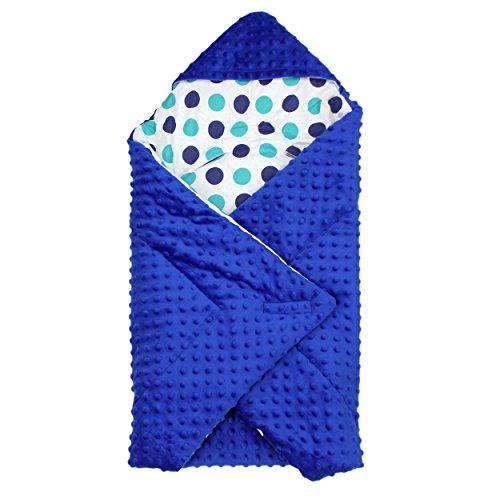 TupTam Baby Winter Einschlagdecke für Babyschale Wattiert, Farbe: Dunkelblau, Größe: ca. 75 x 75 cm