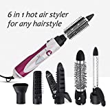 Hair Curler 6 in 1 Luckyfine, Multi functional Roller, Hairdressing Straightener, Electric Hair Dryer, Curling Iron, Styling Hot Air Kit Hair Styling Brush Sets, Gift for Women