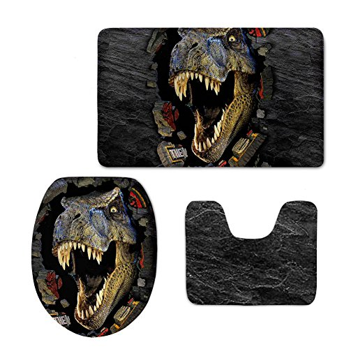 -Cover 3-teiliges Set mit Tier-Muster, Flanell, Dinosaurier, M ()