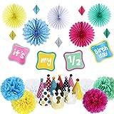 Easy Joy 1/2 Geburtstag Dekoration Kit it's my 1/2 birthday Girlande Baby Geburtstagsdeko