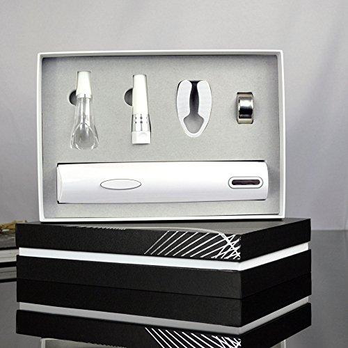 Lshky 5 pz vino bianco rapido apribottiglie elettrico casa creativa set regalo di alta qualità, taglia-lamina, tappo sottovuoto, vino versatore
