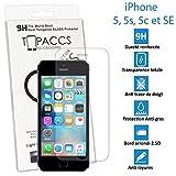 topaccs Apple Iphone 5 5s 5c Se - Véritable vitre en Verre trempé Ultra Résistante - Protection Écran - avec Boite