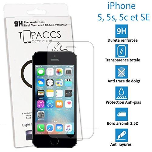 Unbekannt Generic Displayschutzfolie aus Hartglas Ultra, widerstandsfähig, für iPhone 5/5S/5C/SE