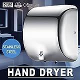 Autovictoria Secadores de manos Automatic Hand Dryer 1200W Secador de manos Automático Alta Velocidad 90 m / s Dispositivo de Secado de Manos Comerciales Acero Inoxidable para baño Doméstico