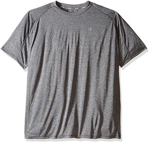 Champion's Männer grossen und hohen Performance Raglan T-Shirt, Granit/Heather, 2 X (Und Hoch T-shirt Groß Performance)
