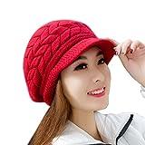 Cappelli,BYSTE Donne Skullies Beanie a maglieria cappello Con Visiera Berretto Invernale Caps Berrette Cappellino Berretta (Anguria rossa)