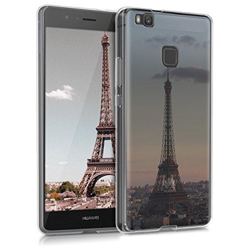 kwmobile Huawei P9 Lite Hülle - Handyhülle für Huawei P9 Lite - Handy Case in Anthrazit Rosa Transparent