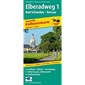 Elberadweg 1, Bad Schandau - Dessau: Leporello Radtourenkarte mit Ausflugszielen, Einkehr- & Freizeittipps, wetterfest, reissfest, abwischbar, GPS-genau. 1:50000