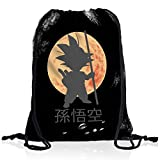 style3 Goku Dragon Moonlight Rucksack Tasche Turnbeutel Sport Jute Beutel, Rucksack Farbe:Motiv 2