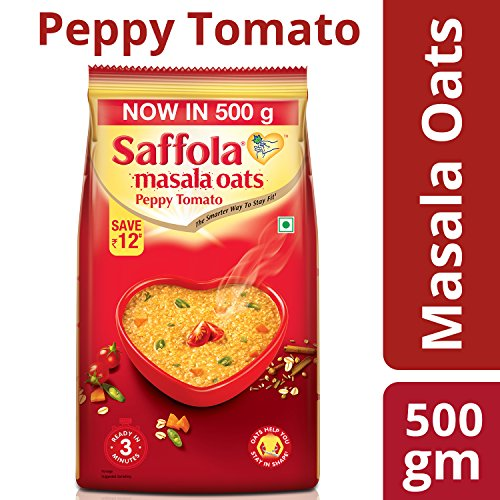 Saffola Masala Oats Peppy Tomato, 500gm