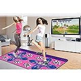 wly&home Alfombras de Baile,Pista de Baile Doble/Pista de Baile Wii/computadora/TV de Doble Uso, Alfombra de Danza y Baile de Alfombra de Baile de Pérdida de Peso para Adultos/Niños, Pink